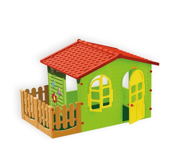 Mochtoys Игровой домик с заборомИгровой домик с заборомMochtoys Домик с забором  предназначен для игр детей как в помещении, так и на улице. Вход с открывающейся дверью. Он быстро и легко собирается и разбирается. Элементы домика соединяются и закрепляются специальными пластиковыми болтами, которые входят в комплект. Для сборки домика не требуются специальные инструменты. Этот домик станет замечательной площадкой для игр вашего ребенка и его друзей.     Игровой домик выполнен из высококачественного пластика, максимально устойчив, абсолютно безопасен для игр детей разного возраста.   Размеры домика:  ширина: 127 см длина: 190 см высота: 120 см<br>