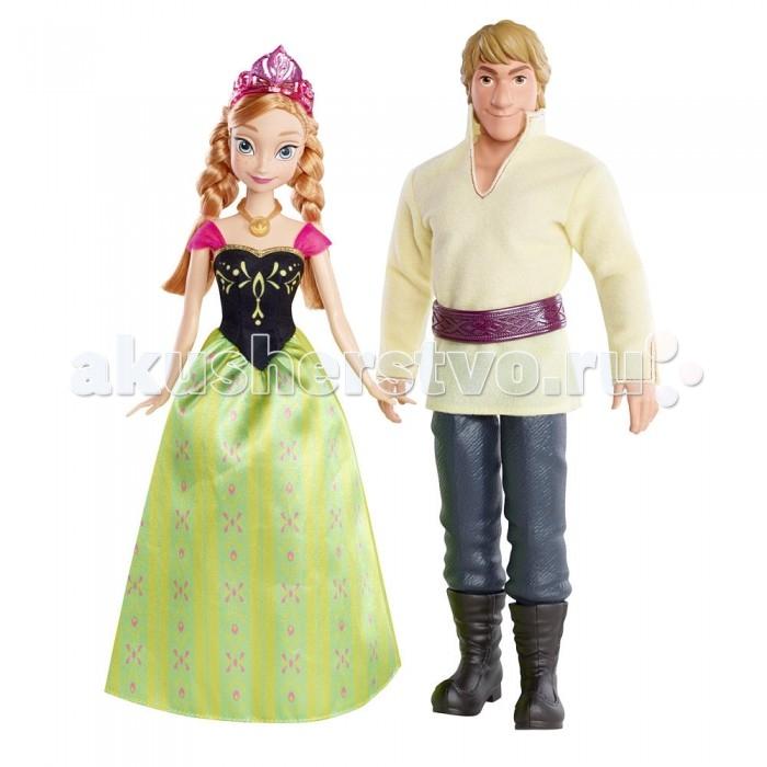 Disney Куклы Холодное сердце - Анна и КристофКуклы Холодное сердце - Анна и КристофСерия игрушек Дисней Принцесс представляет кукол, точных копий диснеевского мультфильма «Холодное сердце» (Frozen) - Анну и Кристофа. Пара этих героев мультфильма как всегда у Disney не стандартная, Анна прекрасная принцесса, а Кристоф простой кольщик льда, но это совершенно не помешало им полюбить друг друга.  Куклы в точности копируют своих прототипов и костюмы из одного из эпизодов мультфильма. Анна одета в нарядное платье и корону, а Кристоф в рубахе с широким поясом и простецких штанах. Волосы Анны прошивные, а у Кристофа пластиковые.  У кукол двигаются и сгибаются руки, ноги и головы. Изготовлены куклы Анна и Кристоф из серии Disney Princess компанией Mattel, одно название, которой является гарантией качества для производимых ею игрушек.  Высота Анны: 28 см. Высота Кристофа: 30 см.<br>