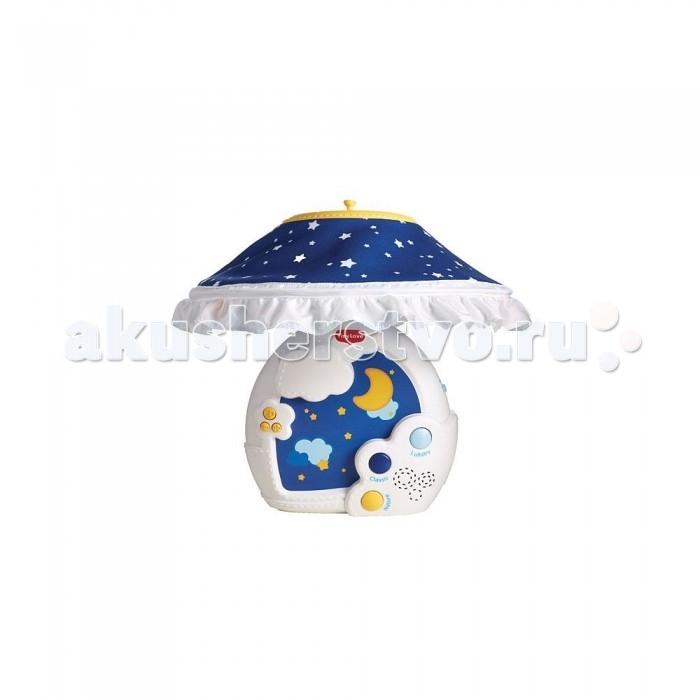 Мобиль Tiny Love Звездная ночь Универсальный музыкальныйЗвездная ночь Универсальный музыкальныйУниверсальный музыкальный мобиль Звездная ночь прекрасно подойдет для подготовки малыша ко сну. Данный мобиль можно трансформировать, чтобы использовать его в качестве ночника на тумбочке рядом с кроваткой малыша, когда тот подрастет.   Музыкальный ночник оснащен торшером, с которого свисают безопасные игрушки в виде звездочек и месяца. Музыка мобиля представлена в трех разных категориях, поэтому ребенок сможет прослушать девять различных расслабляющих мелодий в течение тридцати минут без остановки. Устройство способно выдавать картинку звездного неба на потолок, что успокоит малыша. Благодаря такой установке ребенок сможет и играть. Громкость звука легко регулируется.  В комплект входит:  мобиль подвески<br>