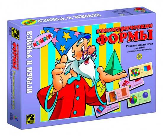игры для малышей step puzzle настольная игра дорожные знаки Игры для школьников Step Puzzle Настольная игра Геометрические формы серия Играя, учись