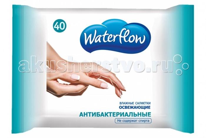 Салфетки Waterflow Влажные антибактериальные салфетки 40 шт. салфетки бранолинд где в аптеках г омска