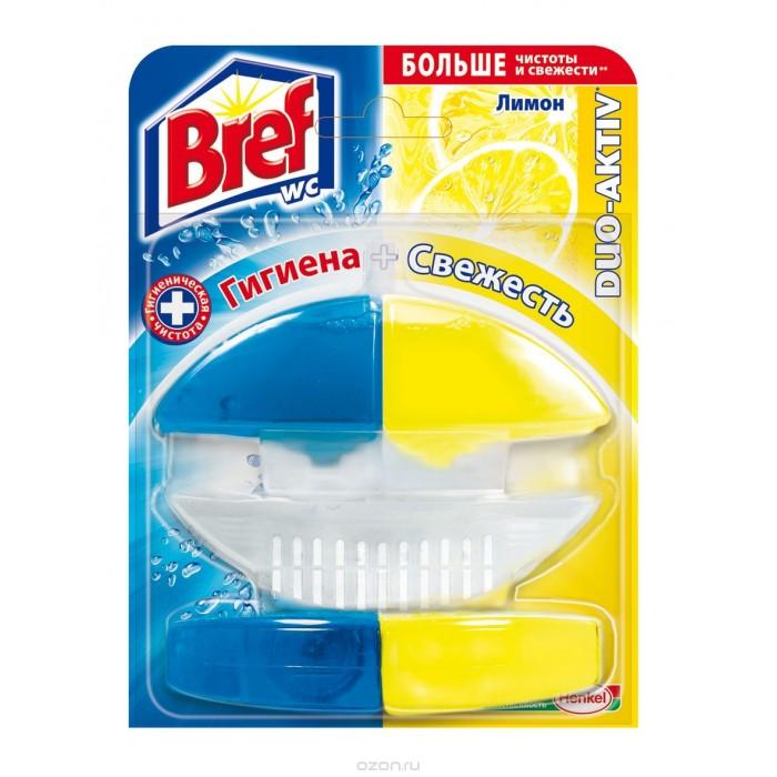 Бытовая химия Bref Duo-Activ Освежитель для туалета Лимон 50 мл bref duo aktiv океан