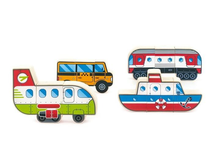Конструктор Мир деревянных игрушек Магнитные фигуры - Транспорт