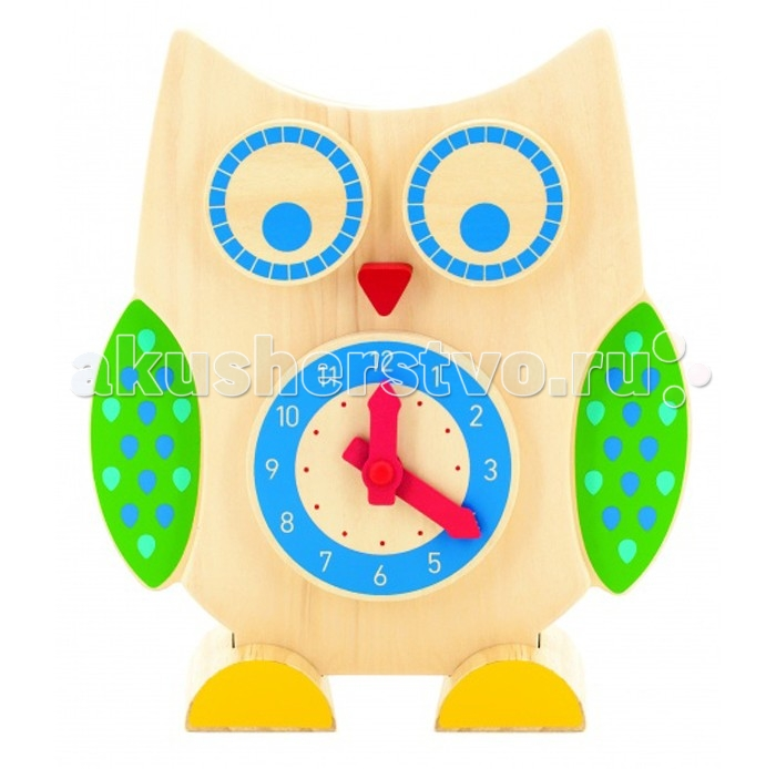 Развивающие игрушки Мир деревянных игрушек (МДИ) Сова часы и счеты деревянные игрушки мир деревянных игрушек мди счеты