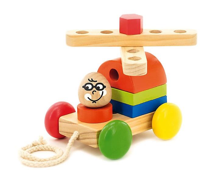 Каталки-игрушки Мир деревянных игрушек Вертолет мир деревянных игрушек конструктор каталка полиция