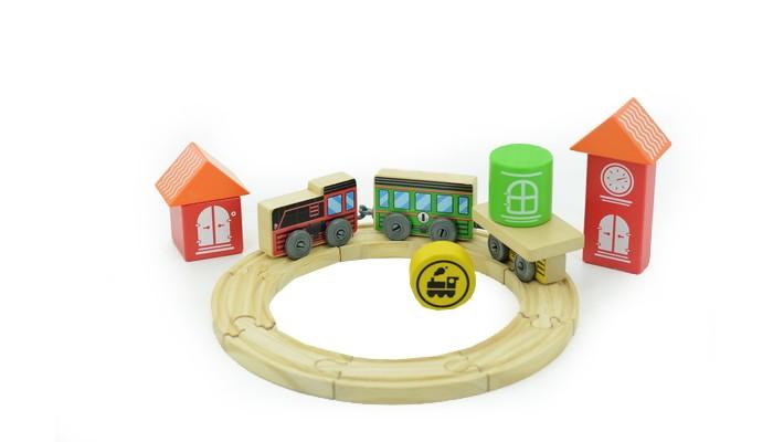 Деревянная игрушка Мир деревянных игрушек Трасса Локомотив
