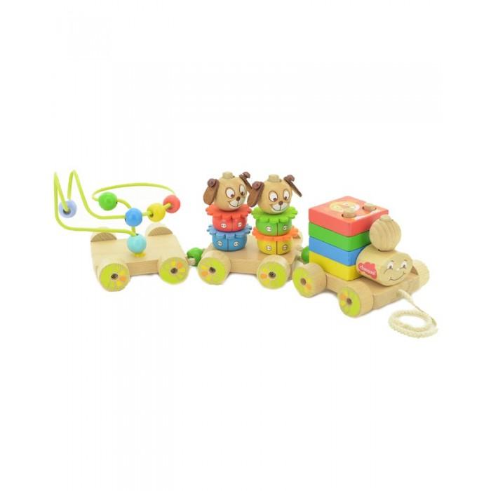 Деревянные игрушки Мир деревянных игрушек Паровозик Чух-чух № 1 паровозик чух чух чух лесное путешествие
