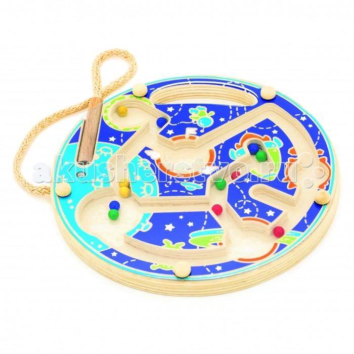 Деревянная игрушка Мир деревянных игрушек (МДИ) Магнитный лабиринт Космос