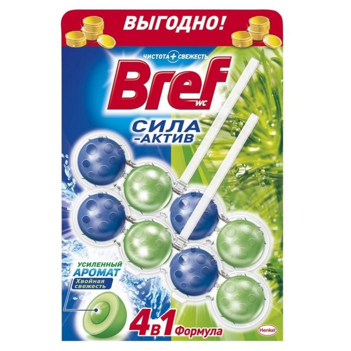 Бытовая химия Bref Сила-Актив Освежитель для туалета Хвойная свежесть 2х50 г