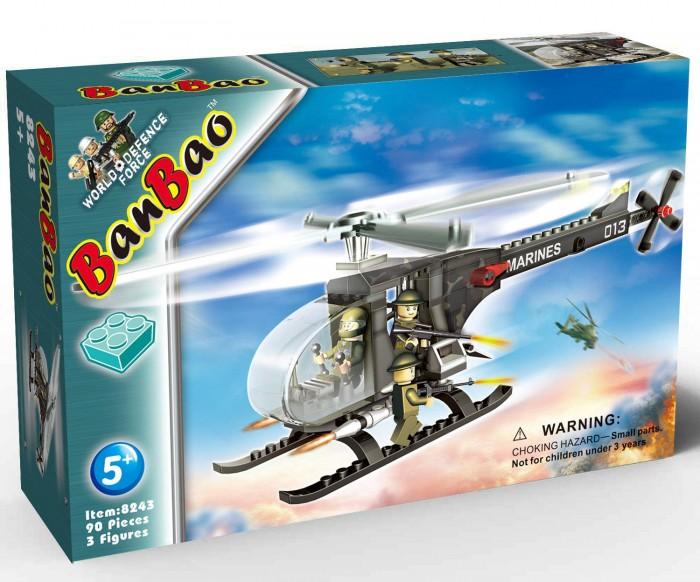Конструкторы BanBao Военный вертолет 90 элементов конструкторы banbao военный самолет 150 элементов