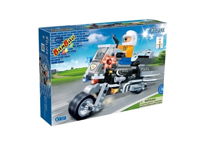 Конструкторы BanBao Полицейский на мотоцикле 140 элементов