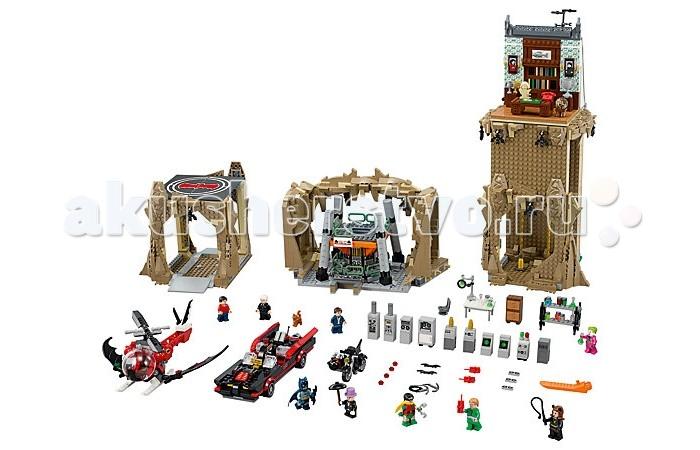 Конструктор Lego Super Heroes Логово БэтменаSuper Heroes Логово БэтменаКонструктор Lego Super Heroes Логово Бэтмена представляет собой уникальную постройку, спрятанную в скалистой пещере.   Особенности: В левой части расположен потайной вход, попасть в него можно либо по земле, либо по воздуху. На асфальтированном пандусе устроено парковочное место для бэтмобиля или бэтцикла, а на крыше есть вертолётная площадка для бэткоптера.  Центральная часть логова отведена лаборатории, изобилующей датчиками, мониторами и различными приборами слежения. Так же здесь имеется мощнейший бэткомпьютер, детектор лжи, пульт управления с удобным сидением и стол для сложных опытов с множеством разноцветных склянок, пробирок и увеличительным стеклом. Все преступники Готэма мечтают добраться до этой лаборатории. Коварная Женщина-кошка очень бы хотела узнать секреты Человека-летучей мыши, а Джокер не отказался бы украсть несколько реагентов для изготовления своего «Яда смеха».  Самой большой частью постройки является особняк Уэйнов. Снаружи он выглядит как обычное двухэтажное здание из кирпича, с покатой крышей и мансардой. Внутри нижние этажи заменяют каменные своды пещеры и два бэтшеста для мгновенного спуска супергероев.  Мансарда выполнена с высокой степенью детализации. На цветочных обоях можно увидеть светильники, портреты, а рядом с ними - тумбы с золотыми и серебряными кубками. В середине комнаты стоит письменный стол с красным бэтфоном и бюстом Шекспира, под которым есть секретная кнопка. Также в комнате оборудован потайной выход, ведущий к бэтшестам. Его можно найти за отодвигающимся книжным шкафом.   В набор входят девять минифигурок с различными аксессуарами.<br>