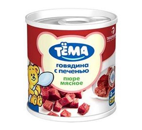 Пюре Тёма Пюре Говядина с печенью с 8 мес., 100 г