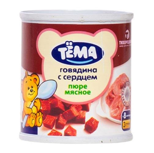 Пюре Тёма Пюре Говядина с сердцем с 8 мес., 100 г цена