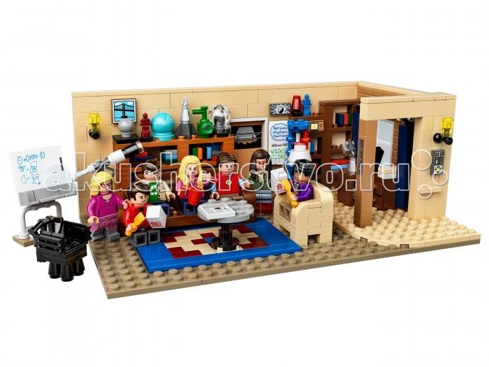Конструктор Lego Ideas Теория большого взрываIdeas Теория большого взрываКонструктор Lego Ideas Теория большого взрыва   Любителям сериала про теорию появления окружающего мира есть чем заняться в свободное время. Компания Lego предлагает свое видение героев и их приключений, воплотив их в одноименном наборе. Несколько забавных фигурок, в которых вы легко узнаете персонажей сериала, разместились в интерьере пластиковой квартиры и интересно проводят время вместе за просмотром ТВ.  Особенности: Благодаря множеству потрясающих аутентичных деталей, способных удовлетворить самых преданных фанатов сериала, и семи минифигуркам главных героев, этот набор идеально подходит для изображения ролевых сценок из сериала. В набор входят семь минифигурок с аксессуарами: Леонард, Шелдон, Пенни, Говард, Радж, Эми и Бернадетт  Гостиная хорошо детализирована и включает в себя различные детали из сериала, такие как телескоп, доски с формулами, модель ДНК и различные украшения.     Набор отлично подходит для изображения различных сцен из сериала В коробке вы также найдёте буклет, в котором рассказывается  о дизайнерах набора, а также приводятся различные факты о культовом американском ситкоме.<br>