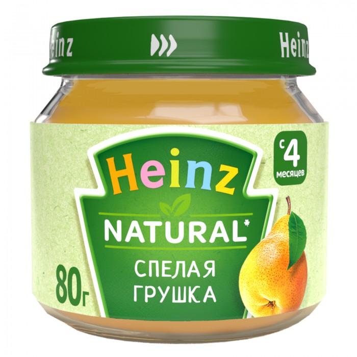 Пюре Heinz Пюре Спелая грушка с 4 мес., 80 г heinz нежная грушка пюре с 4 мес