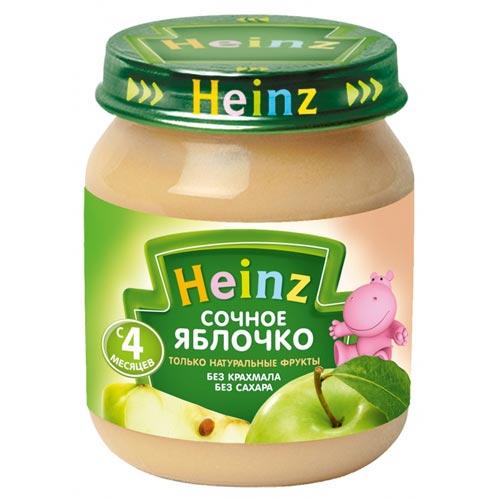 Пюре Heinz Пюре Сочное яблочко с 4 мес., 120 г heinz нежная грушка пюре с 4 мес