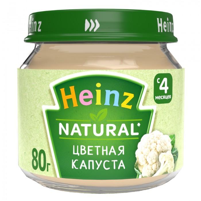 Пюре Heinz Пюре Цветная капуста с 4 мес., 80 г пюре bebivita пюре цветная капуста с 4 5 мес 100 г