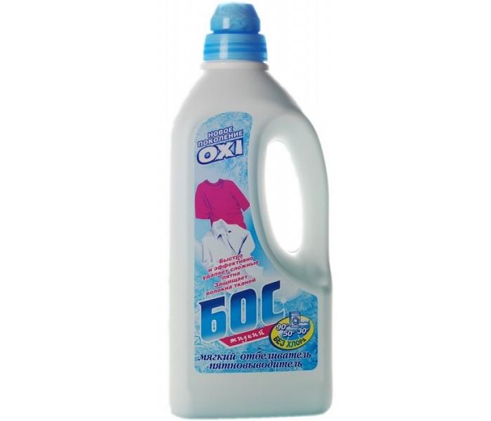 Бытовая химия БОС Отбеливатель жидкий без хлора Oxi 1200 мл бытовая химия туалетный утенок подвеска для унитаза жидкий морской 55 мл
