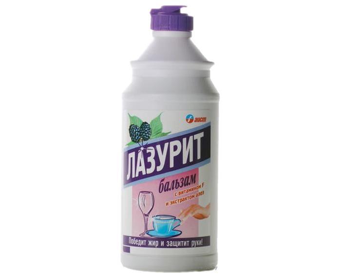 Бытовая химия Лазурит Гель-бальзам для мытья посуды Ежевика 500 мл бальзам для мытья посуды nordland апельсин ваниль 500 мл