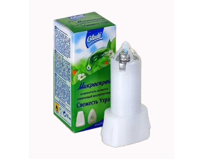 Бытовая химия Glade Освежитель воздуха для туалета и ванн Свежесть утра микроспрей запасной блок 10 мл освежитель воздуха symphony микроспрей арбуз см боллон 30мл 933753