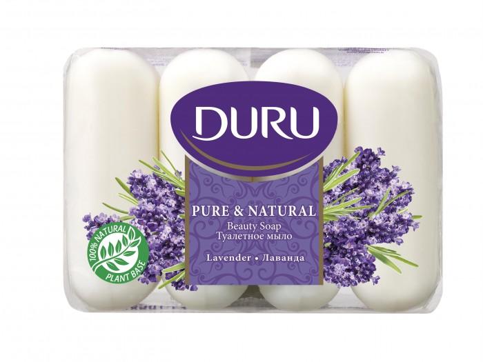Косметика для мамы Duru Pure & Natural Мыло Лаванда 4х85 г недорого