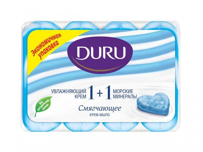 Косметика для мамы Duru Мыло 1+1 Морские минералы 4х90 г гель мыло для рук морские минералы cosmia 300 мл