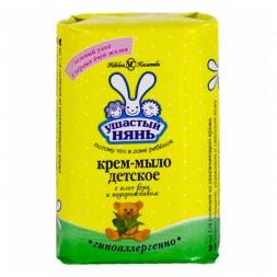 Косметика для новорожденных Ушастый нянь Твердое крем-мыло с экстрактом алоэ 90 г кондиционер для белья ушастый нянь с экстрактом алоэ вера 750 мл