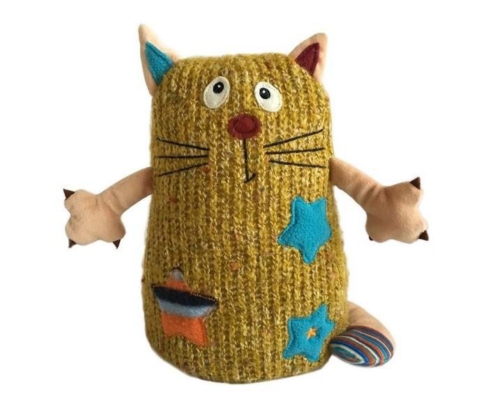 Мягкие игрушки Gulliver Кот Котейка 15 см желтый gulliver мягкая игрушка цыпленок солнышко в штанишках цвет желтый черный серый 12 см