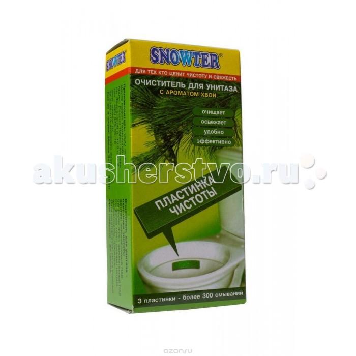 Бытовая химия Snowter Очиститель для унитазов Хвоя пластинка чистоты 3 шт. бытовая химия snowter очиститель для унитазов хвоя свежесть запасной блок подвеска 40 г