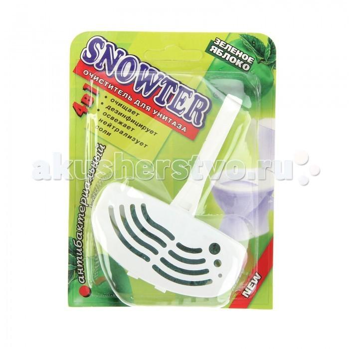 Бытовая химия Snowter Очиститель для унитазов Зеленое яблоко для унитаза в пластиковом контейнере 40 г соль для посудомоечных машин snowter 1 5 кг