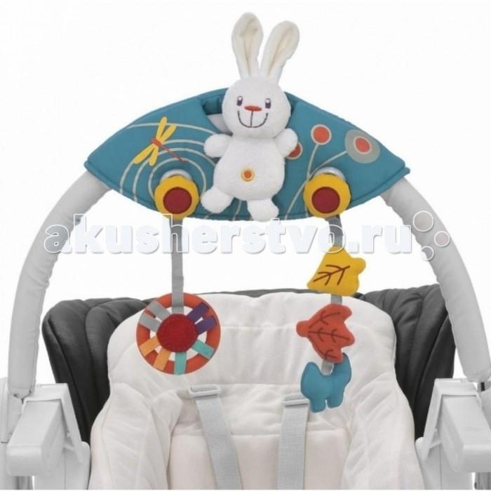 Chicco Игрушки для дуги на стульчик Polly MagicИгрушки для дуги на стульчик Polly MagicChicco Игрушки для дуги на стульчик Polly Magic 12014043000  Широкая дуга стульчика Chicco Polly Magic может регулироваться в 4 позиции. Дуга с игрушеками может расти вместе с ребенком, но потом ее можно отложить. В игрушках на дуге предусмотрено мягкое кольцо для десен, если у ребенка начнут резаться зубки. Когда дуга не используется, ее можно закрепить на задней стенке стульчика.<br>