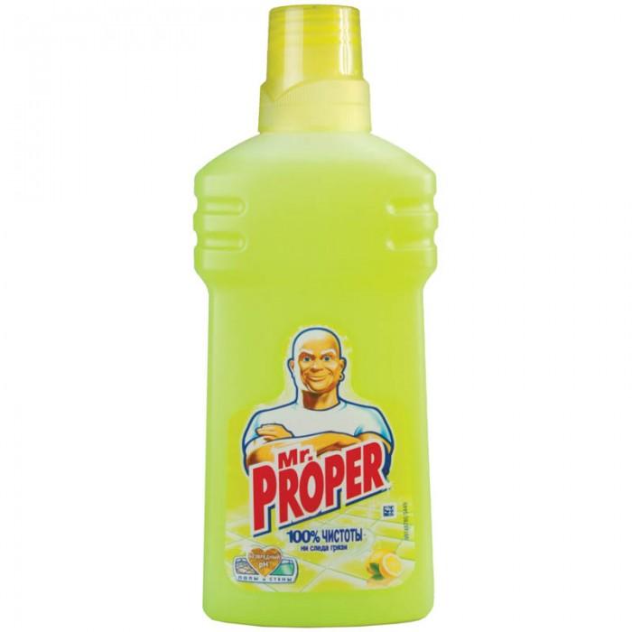 Бытовая химия Mr. Proper Средство для полов Лимон 500 мл жидкость моющая для полов и стен mr proper лавандовое спокойствие 500 мл