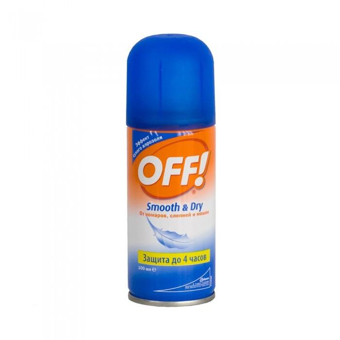 Средства от насекомых Off Средство от комаров Smooth&Dry аэрозоль 100 мл topperr l 30 фильтр для пылесосовlg electronics 4 шт
