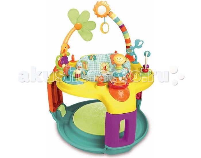 Игровой центр Bright Starts Солнечное сафариСолнечное сафариИгровой центр Bright Starts Солнечное сафари со встроенной панелью для игрушек. Яркий развивающий центр для малыша с пружинящим основание.  Особенности игрового центра: Сиденье регулируется по росту ребенка Сиденье вращается на 360°, чтобы обеспечить доступ ко всем игрушкам Петли для крепления дополнительных игрушек Встроенная панель для игрушек легко моется. Яркие развивающие игрушки в комплекте: - трещотка в виде львенка - стебли с попугаем и цветочком - разноцветные крутящиеся цилиндры - логическая дуга с двигающимися бусинами - цветок из ткани - безопасное зеркальце.<br>