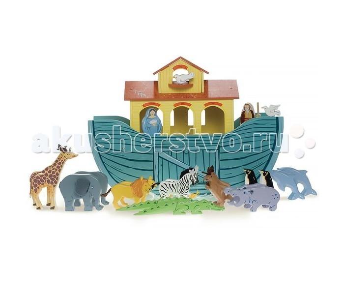 LeToyVan Игровой набор Великий ковчегИгровой набор Великий ковчегLe Toy Van Игровой набор Великий ковчег представляет собой классическую игрушку из дерева, выполненную в форме ковчега с 10 парами животных, расписанных вручную. Кроме того, комплект дополнен фигурками Ноя и его жены. Раздвижная панель в корпусе корабля и передний откидной люк обеспечивают удобство игры. Раздвижная панель в корпусе корабля и передний откидной люк обеспечивают удобство игры.  Набор упакован в красивую подарочную коробку.  В комплекте:  деревянный корабль размером 51 х 17 х 38 см 10 пар фигур животных  1 пару Ноя и его жены<br>