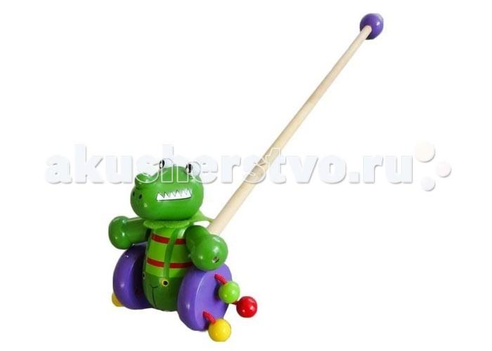 Каталки-игрушки Mapacha Каталка Динозаврик каталки fisherprice каталка обучающая черепашка на колесиках