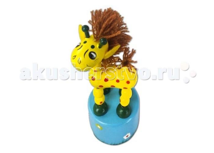 Деревянные игрушки Mapacha Танцующий жираф с гривой