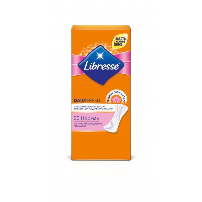 Гигиена для мамы Libresse Ежедневные прокладки Dailyfresh Normal ультратонкие 20 шт либресс дэйлифреш нормал прокладки ежедневные ультратонкие 20 штук libresse dailyfresh normal