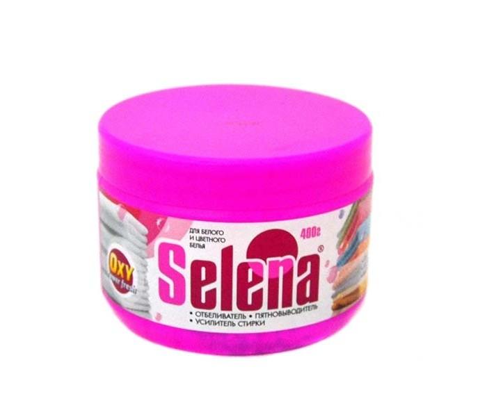 Бытовая химия Selena Отбеливатель усилитель стирки Oxy Power Fresh для хлопчатобумажных льняных вискозных тканей 400 г бытовая химия selena антинакипин для стиральных машин 100 г 24