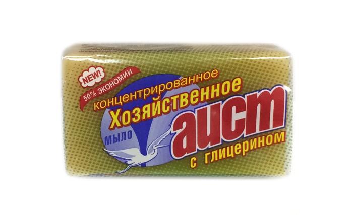 Бытовая химия Аист Хозяйственное мыло c глицерином 70% 150 г мыло аист 2 в 1 антипятин 150 гр 932241