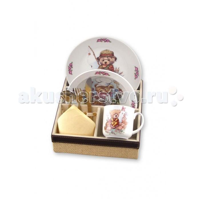 Reutter Porzellan Набор детской посуды с подставкой Медвежонок 6 предметов