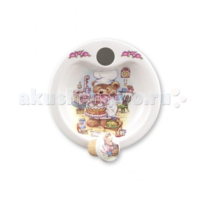 Reutter Porzellan Тарелка детская с двойным дном для подогрева Медвежонок
