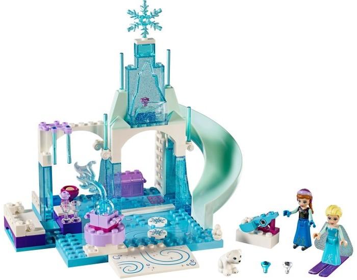 Конструктор Lego Juniors Игровая площадка Эльзы и АнныJuniors Игровая площадка Эльзы и АнныКонструктор Lego Juniors Игровая площадка Эльзы и Анны может надолго заинтересовать многих детей. Ребенку предлагается построить игровую площадку для персонажей известного мультфильма Frozen.  Особенности: Данный конструктор можно собрать в одну единую конструкцию, все его детали достаточно легко и быстро присоединяются друг к другу.  В собранном виде сооружение напоминает замок, сделанный изо льда, благодаря используемому материалу фигур и их цветовому исполнению. Собрав конструктор, ребенок сможет очень интересно и увлекательно провести время, ведь перед ним две фигурки - героини из известного и любимого многими детьми мультфильма Anna и Elsa, играя с которыми можно придумать огромное количество сюжетных линий. Конструктор представляет собой зимнюю игровую площадку, где можно будет поиграть в снежки, построить интересные фигуры и просто весело провести время с друзьями.  Конструктор изготовлен из качественного материала и будет долго радовать ребенка.<br>