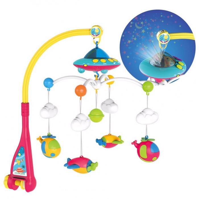 Мобиль Everflo Веселые вертолетики с проектеромВеселые вертолетики с проектеромEverflo Мобиль Веселые вертолетики с проектером  Механическая карусель легко крепится к любой кроватке. Приятная мелодия поможет малышу развить органы слуха, а цветные игрушки непременно привлекут его внимание. Карусель изготовлена для самых маленьких из безопасных материалов  Музыкальный:108 мелодий  Регулировка громкости Возраст: от 0  Батарейки: 3 АА (не входят в комлект) Размер: 40 х 55 х 53 см<br>