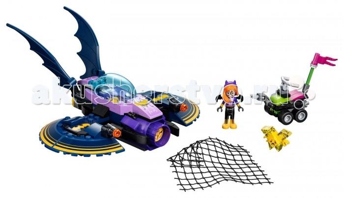 Конструктор Lego Super Heroes Бетгерл: погоня на реактивном самолетеSuper Heroes Бетгерл: погоня на реактивном самолетеКонструктор Lego Super Heroes Бетгерл: погоня на реактивном самолете позволит создать необычный сюжет про героиню из комиксов Бэтгерл.  Бэтгерл была помощницей Бэтвумен, как Робин у Бэтмена. Они вместе защищали мир от существующего зла. Конструкторный набор состоит из 206 деталей лего, которые легко крепятся друг с другом и совмещаются с другими деталями из наборов от того же производителя, которые можно приобрести отдельно для того, чтобы расширить коллекцию Lego серии Super Hero Girls.   Особенности: Все детали можно соединить, опираясь на инструкцию, где честно изображено, какой элемент куда и к чему крепится, чтобы получился шикарный бэтмобиль. Автомобиль супергероини необычный! Он может кидать сеть на врага, чтобы тот не смог далеко уйти. Также машинка Бэтгерл стреляет снарядами, что тоже будет эффективно в борьбе с преступностью. Помимо полезных вещей для доброго персонажа, есть детали конструктора и для отрицательного героя, из которых можно собрать небольшой скутер.  Когда все игрушки будут собраны и расставлены по своим местам, ребенок сможет начать захватывающий сюжет, где Бэтгерл будет гнаться за опасным преступником, который украл у нее супер важные данные.   Конструктор увлечет малыша на многие часы и не даст ему скучать.Конструкторы Lego не только развлекут девочку, но и позволят ей усовершенствовать мелкую моторику, развить воображение и творческую фантазию.  Все детали конструктора изготовлены из безопасного и качественного материала, при производстве используется многоступенчатая система контроля качества.<br>