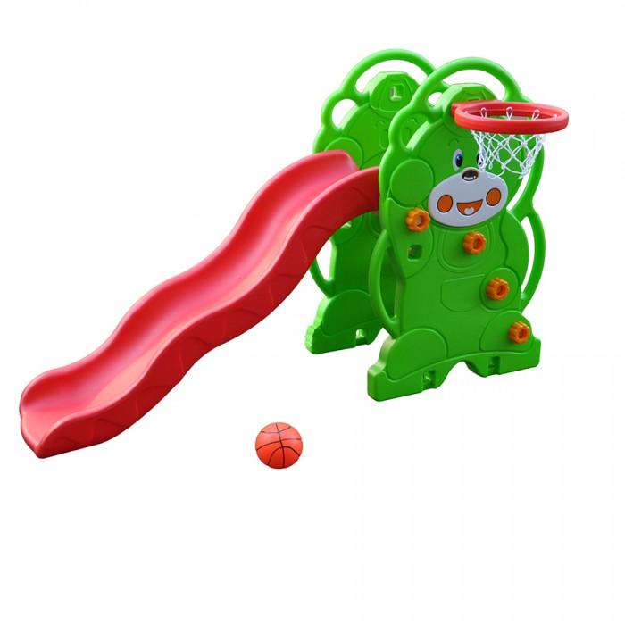 Летние товары , Горки QiaoQiao Мишка с баскетбольным кольцом арт: 274048 -  Горки