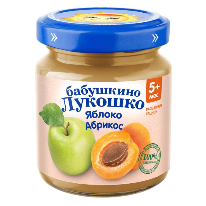 Пюре Бабушкино лукошко Пюре Яблоко, абрикос с 4 мес., 100 г абрикос сушеный без косточек каждый день 450г