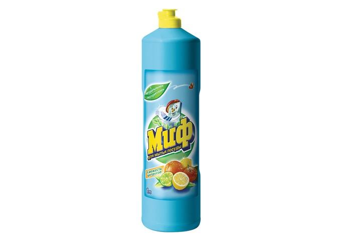 Бытовая химия Миф Средство для мытья посуды Свежесть цитрусов 1000 мл средство для мытья посуды миф свежесть долины роз 500 мл