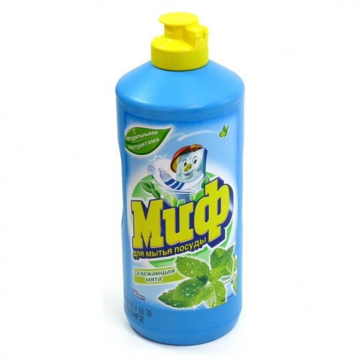 Бытовая химия Миф Средство для мытья посуды Освежающая мята 500 мл средство для мытья посуды миф свежесть долины роз 500 мл